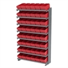 12 1-SidedPick Rack, 48 AkroDrawers, Gray/Red