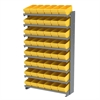 Akro-Mils 12 1-SidedPick Rack, 48 AkroDrawers, Gray/Yellow