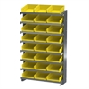 Akro-Mils 12 1-Sided Pick Rack, 24 Shelf Bins, Gray/Yellow