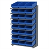 Akro-Mils 18 1-Sided Pick Rack, 24 ShelfMax, Gray/Blue