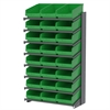 Akro-Mils 18 1-Sided Pick Rack, 24 ShelfMax, Gray/Green