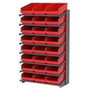 Akro-Mils 18 1-Sided Pick Rack, 24 ShelfMax, Gray/Red