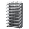 18 1-Sided Pick Rack, 24 ShelfMax, Gray/Clear