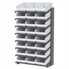 18 1-Sided Pick Rack, 24 ShelfMax, Gray/White