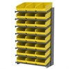 Akro-Mils 18 1-Sided Pick Rack, 24 ShelfMax, Gray/Yellow