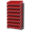 18 1-Sided Pick Rack, 64 ShelfMax, Gray/Red