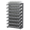 18 1-Sided Pick Rack, 64 ShelfMax, Gray/Clear