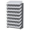 18 1-Sided Pick Rack, 64 ShelfMax, Gray/White