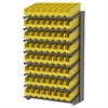Akro-Mils 18 1-Sided Pick Rack, 64 ShelfMax, Gray/Yellow
