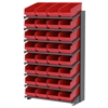 18 1-Sided Pick Rack, 32 ShelfMax, Gray/Red