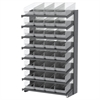 Akro-Mils 18 1-Sided Pick Rack, 32 ShelfMax, Gray/Clear