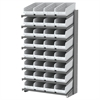 18 1-Sided Pick Rack, 32 ShelfMax, Gray/White