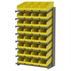 18 1-Sided Pick Rack, 32 ShelfMax, Gray/Yellow