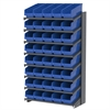 Akro-Mils 18 1-Sided Pick Rack, 40 ShelfMax, Gray/Blue