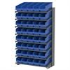 18 1-Sided Pick Rack, 40 ShelfMax, Gray/Blue