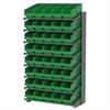 Akro-Mils 18 1-Sided Pick Rack, 40 ShelfMax, Gray/Green