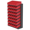 18 1-Sided Pick Rack, 40 ShelfMax, Gray/Red
