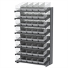 Akro-Mils 18 1-Sided Pick Rack, 40 ShelfMax, Gray/Clear