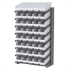 Akro-Mils 18 1-Sided Pick Rack, 40 ShelfMax, Gray/White