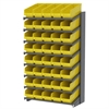 18 1-Sided Pick Rack, 40 ShelfMax, Gray/Yellow