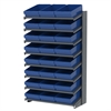 Akro-Mils 18 1-Sided Pick Rack, 24 AkroDrawers, Gray/Blue