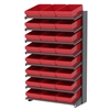 18 1-Sided Pick Rack, 24 AkroDrawers, Gray/Red