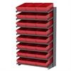 Akro-Mils 18 1-Sided Pick Rack, 24 AkroDrawers, Gray/Red