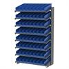 Akro-Mils 18 1-Sided Pick Rack, 72 Shelf Bins, Gray/Blue