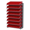 Akro-Mils 18 1-Sided Pick Rack, 72 Shelf Bins, Gray/Red