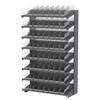 Akro-Mils 18 1-Sided Pick Rack, 72 Shelf Bins, Gray/Clear