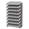 18 1-Sided Pick Rack, 72 Shelf Bins, Gray/White