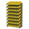 Akro-Mils 18 1-Sided Pick Rack, 72 Shelf Bins, Gray/Yellow