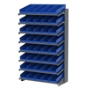 18 1-Sided Pick Rack, 48 Shelf Bins, Gray/Blue