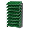 Akro-Mils 18 1-Sided Pick Rack, 48 Shelf Bins, Gray/Blue