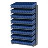 Akro-Mils 18 1-Sided Pick Rack, 72 AkroDrawers, Gray/Blue