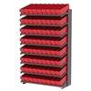 18 1-Sided Pick Rack, 72 AkroDrawers, Gray/Red