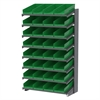 18 1-Sided Pick Rack, 36 Shelf Bins, Gray/Blue