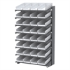 Akro-Mils 18 1-Sided Pick Rack, 36 Shelf Bins, Gray/White