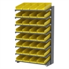 18 1-Sided Pick Rack, 36 Shelf Bins, Gray/Yellow