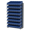 Akro-Mils 18 1-Sided Pick Rack, 48 AkroDrawers, Gray/Blue