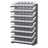 Akro-Mils 18 1-Sided Pick Rack, 48 AkroDrawers, Gray/Clear