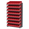 18 1-Sided Pick Rack, 48 AkroDrawers, Gray/Red