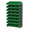 Akro-Mils 18 1-Sided Pick Rack, 24 Shelf Bins, Gray/Green