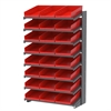 18 1-Sided Pick Rack, 24 Shelf Bins, Gray/Red
