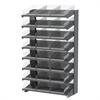 Akro-Mils 18 1-Sided Pick Rack, 24 Shelf Bins, Gray/Clear