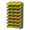 18 1-Sided Pick Rack, 24 Shelf Bins, Gray/Yellow