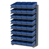 18 1-Sided Pick Rack, 32 AkroDrawers, Gray/Blue