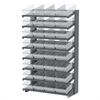 18 1-Sided Pick Rack, 32 AkroDrawers, Gray/Clear