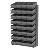 18 1-Sided Pick Rack, 32 AkroDrawers, Gray