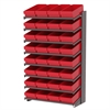 18 1-Sided Pick Rack, 32 AkroDrawers, Gray/Red